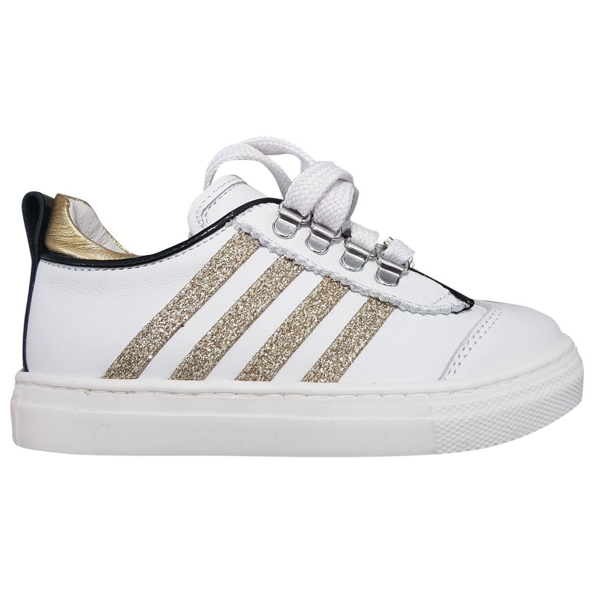 Dsquared2 \N White Leather Trainers for Kids 20 EU