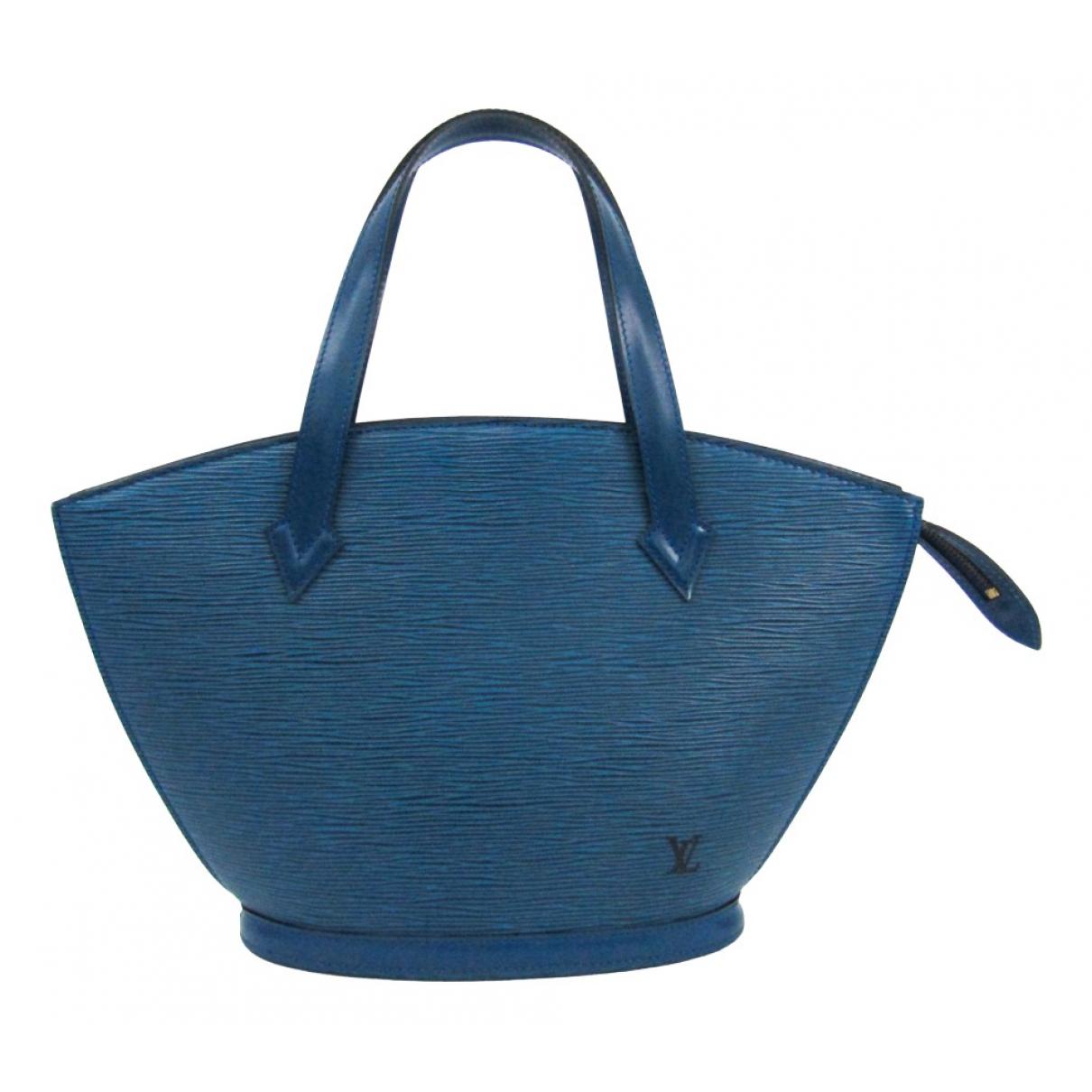Louis Vuitton Saint Jacques Blue Leather handbag for Women N
