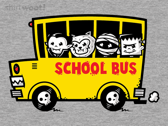 School Bus Of Horror T Shirt