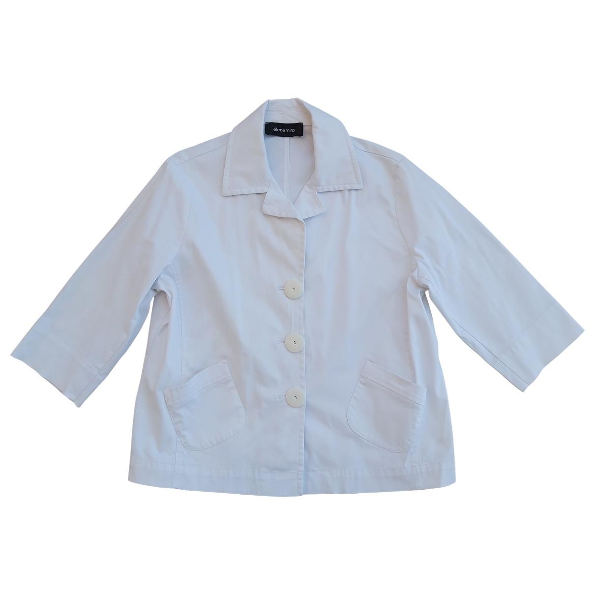 Elena Miro - Veste   pour femme en coton - blanc