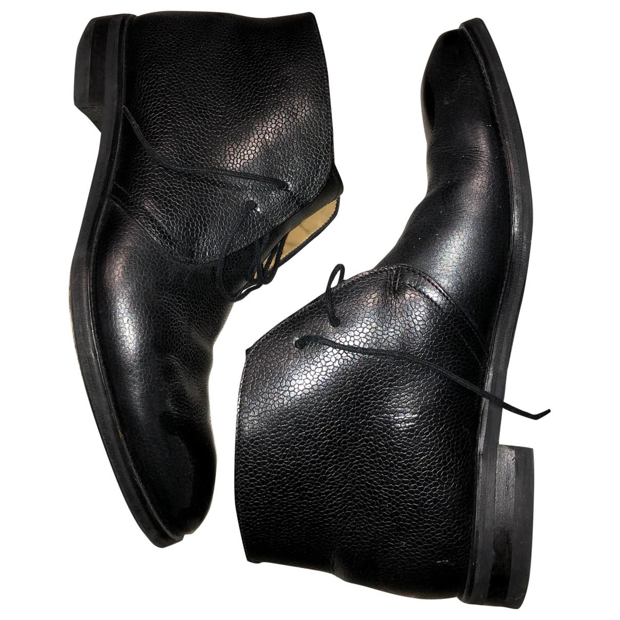 Emling \N Stiefel in  Schwarz Leder