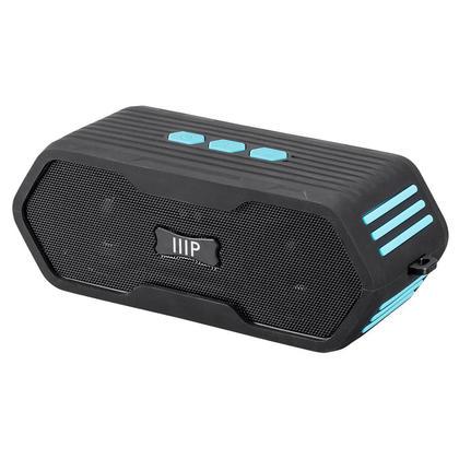 Haut-parleur Bluetooth étanche submersible bleu profond IPX7 - Monoprice®
