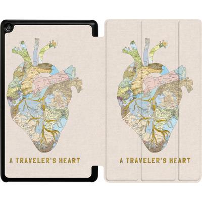 Amazon Fire HD 8 (2018) Tablet Smart Case - A Travelers Heart von Bianca Green