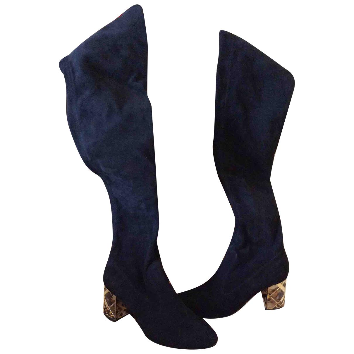 Burberry - Bottes   pour femme en suede - noir