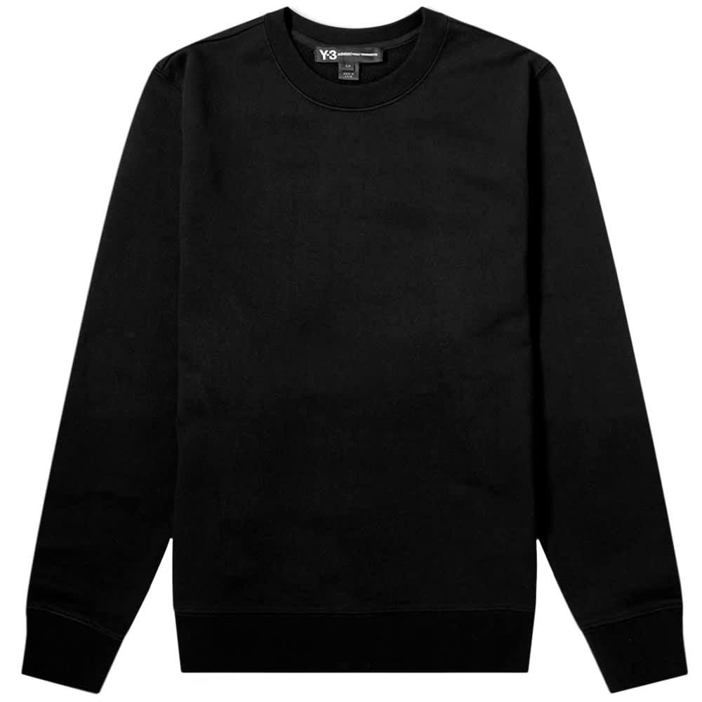 Y-3 Reverse Graphic Crew Sweatshirt Black Colour: BLACK, Size: SMALL