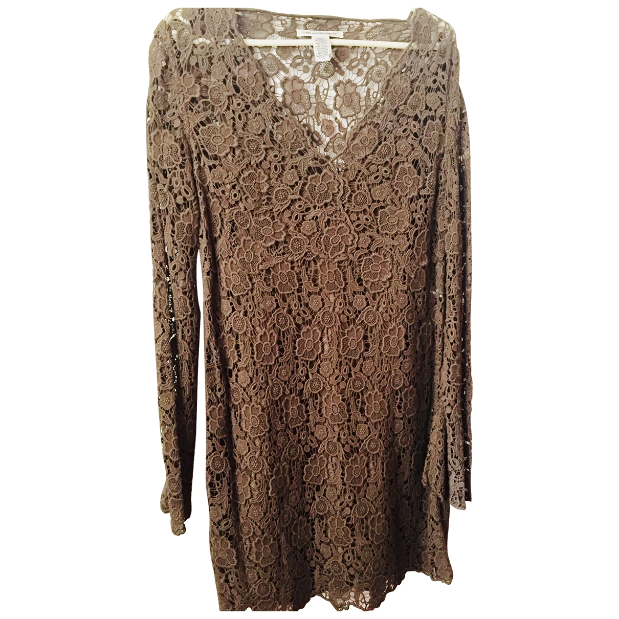Diane Von Furstenberg \N Khaki Lace dress for Women 10 US