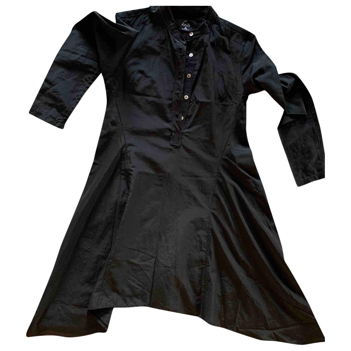 Peuterey \N Kleid in  Schwarz Baumwolle - Elasthan
