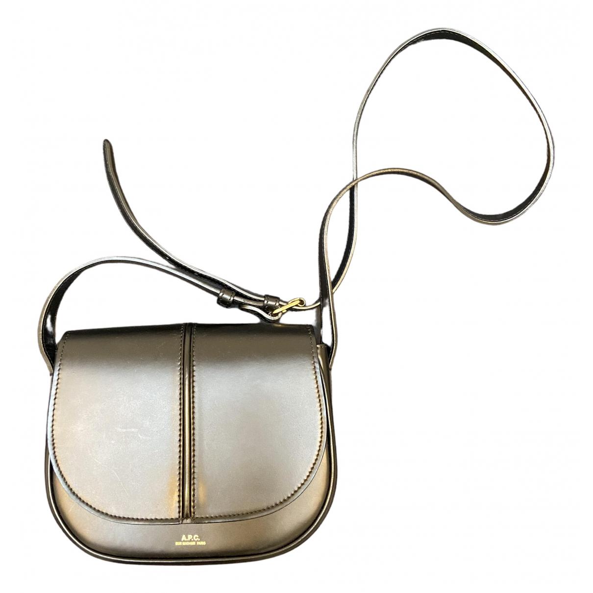 Apc \N Handtasche in  Silber Leder