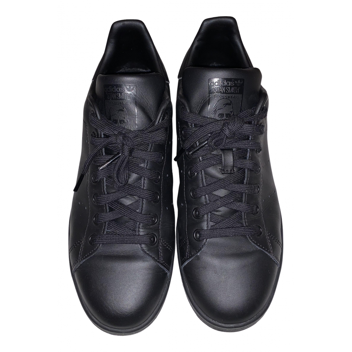Adidas Stan Smith Black Leather Trainers for Women 8 UK