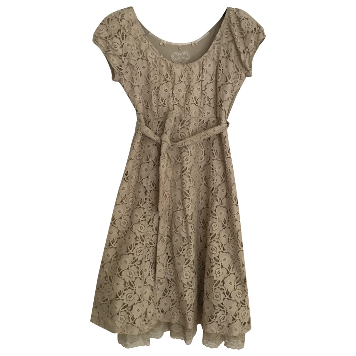 By Timo \N Beige Cotton dress for Women S International