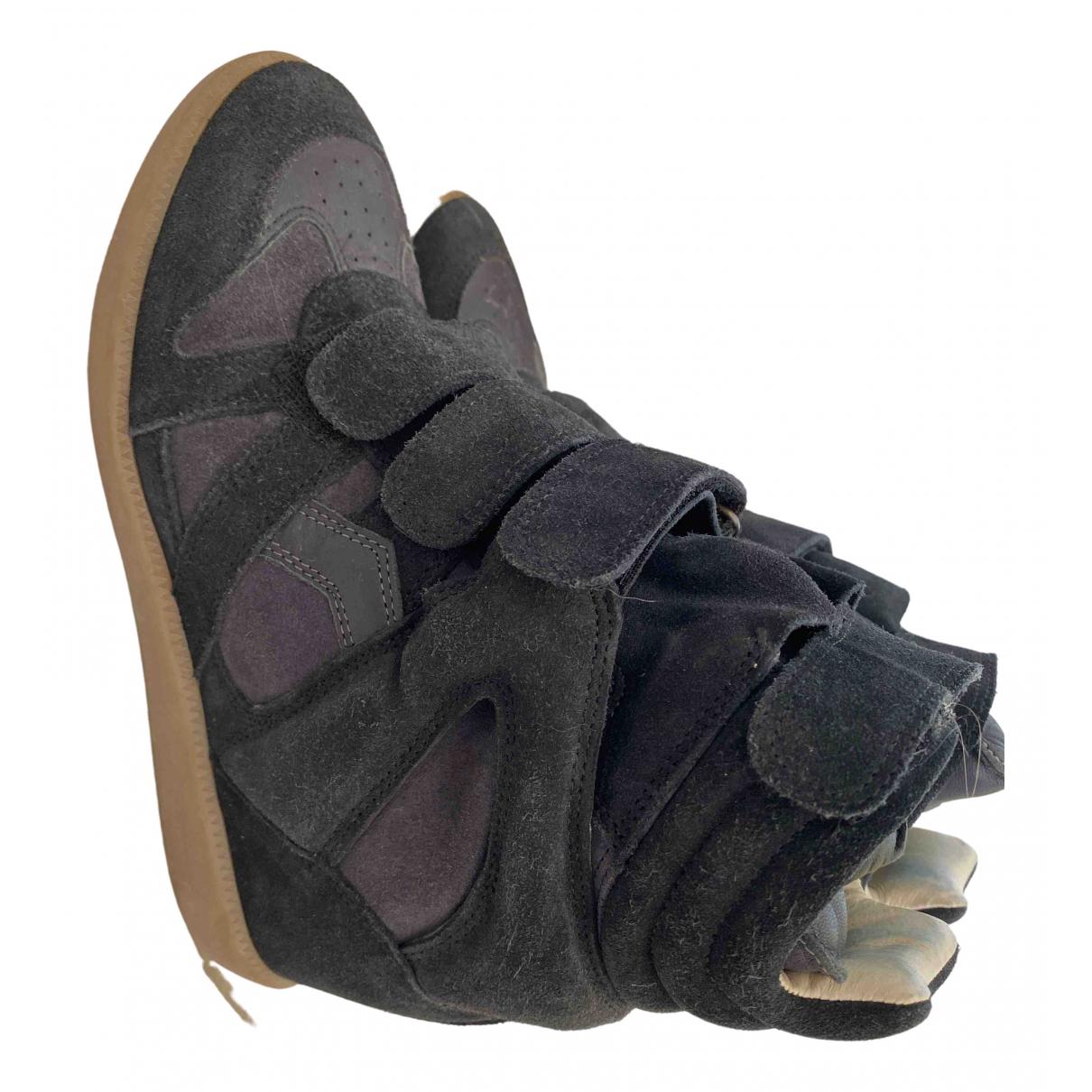 Isabel Marant Beckett Sneakers in  Schwarz Veloursleder