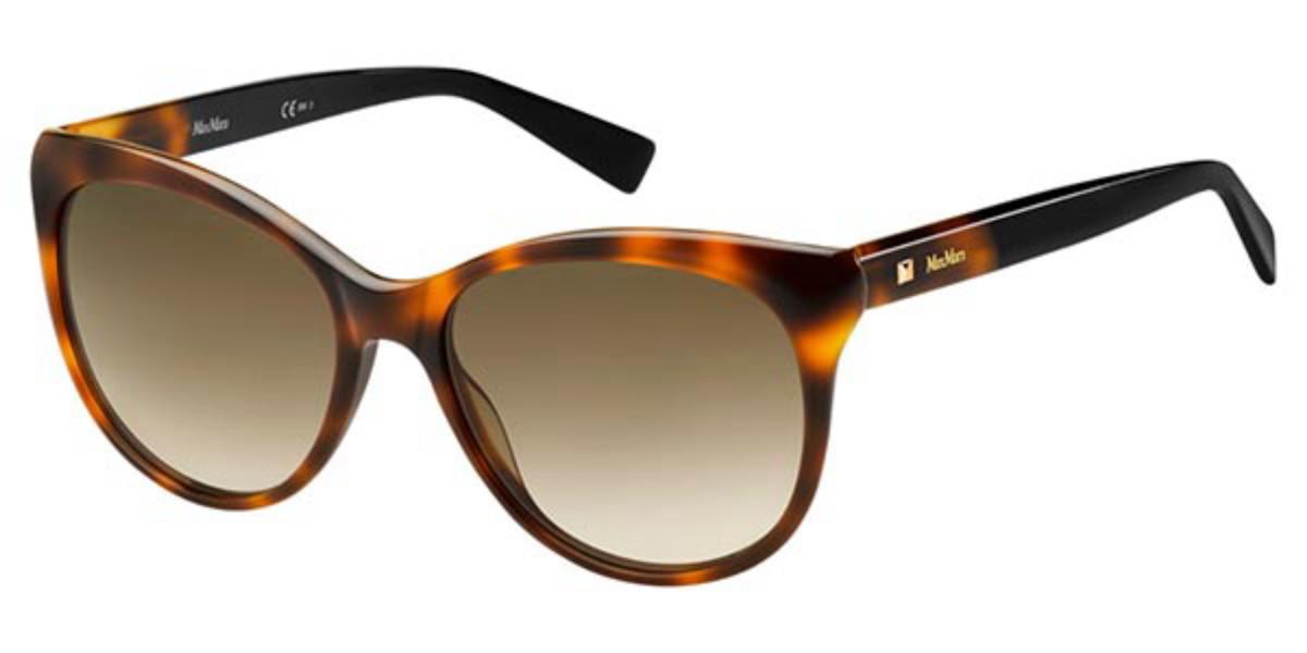 Max Mara MM COSY 086/HA Women's Sunglasses Tortoise Size 56