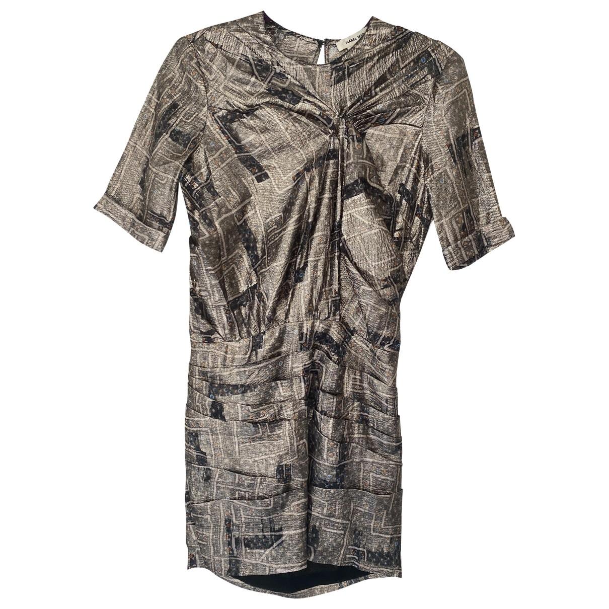 Isabel Marant Pour H&m \N Kleid in  Gold Seide