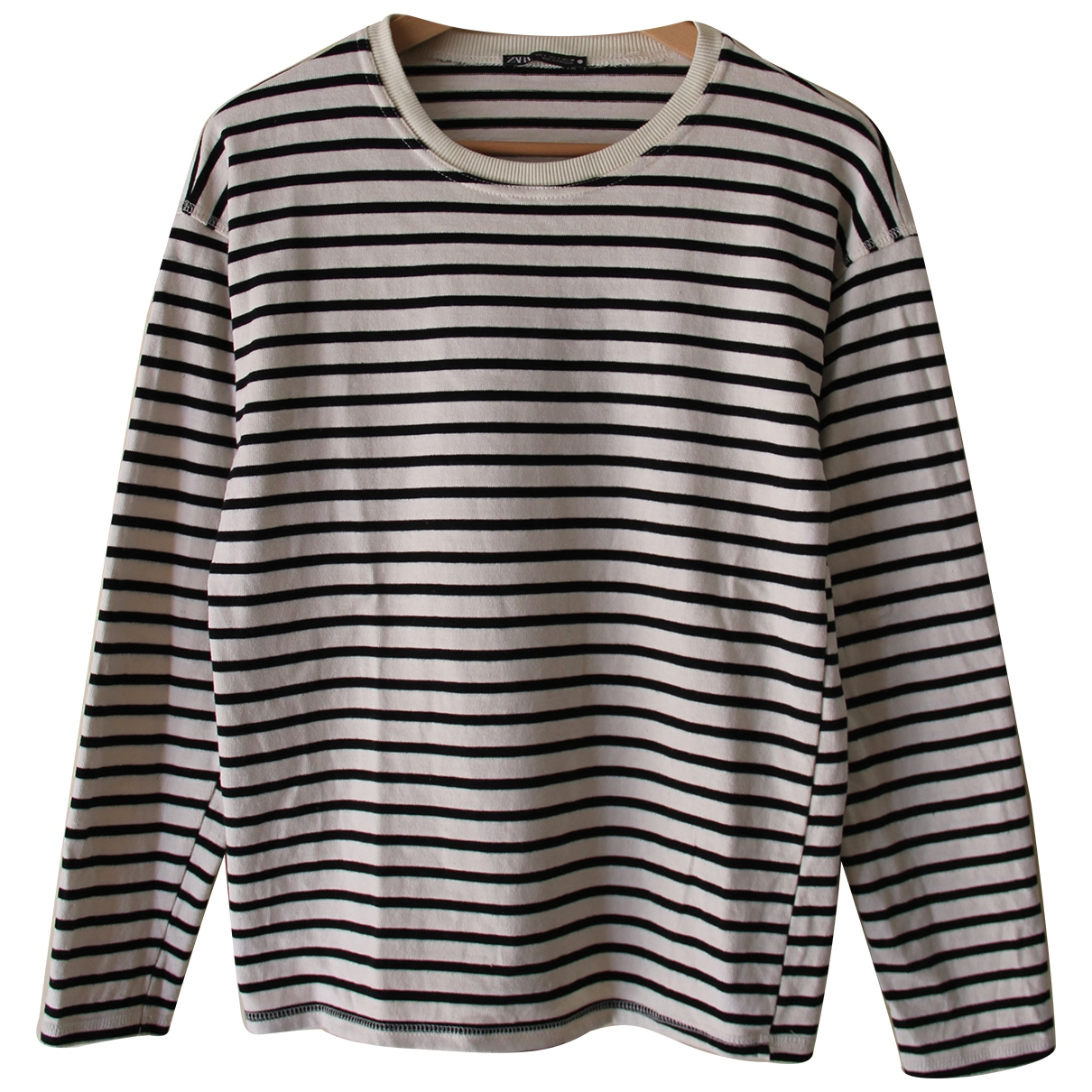 Zara - Top   pour femme en coton - blanc