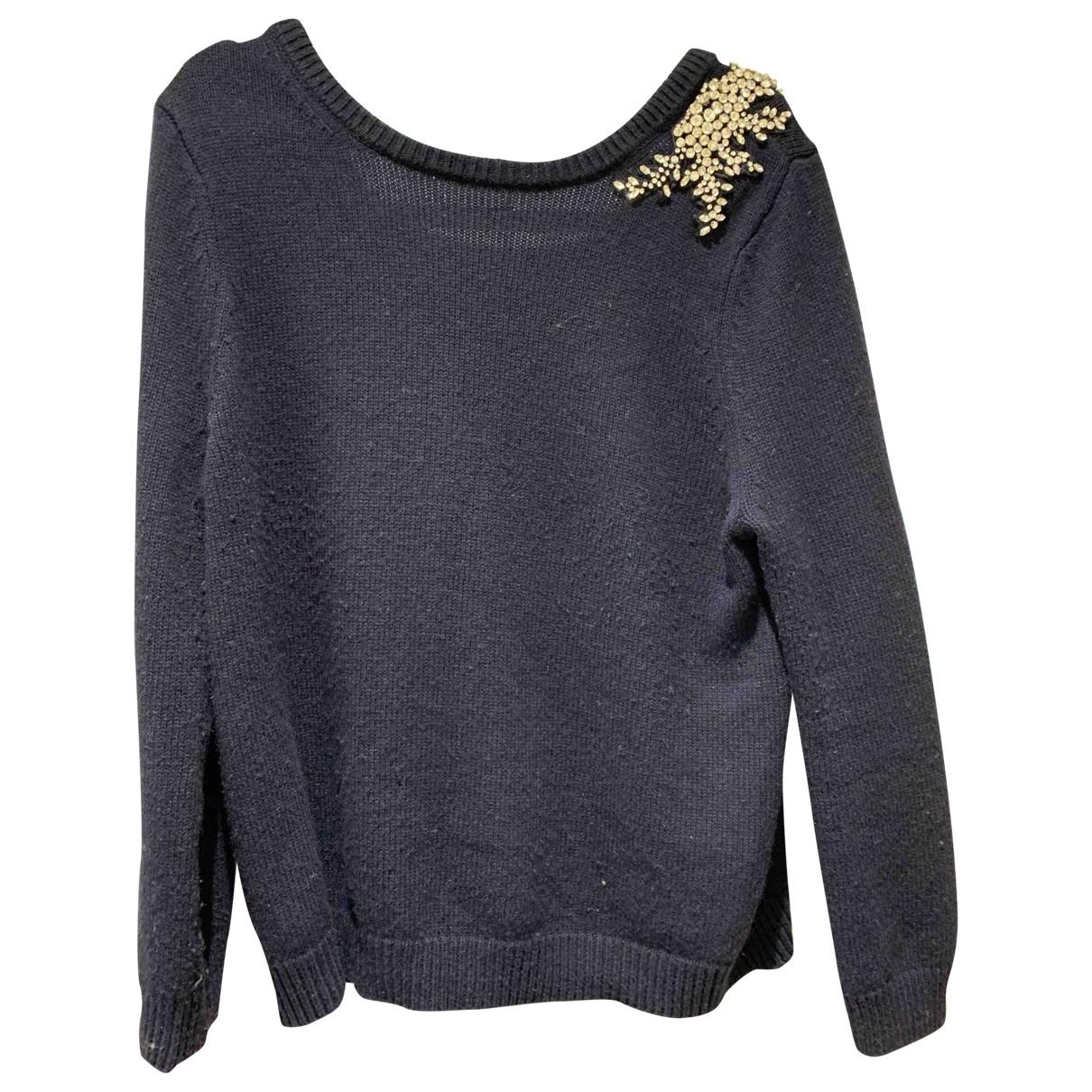 Ba&sh - Pull   pour femme en laine - bleu