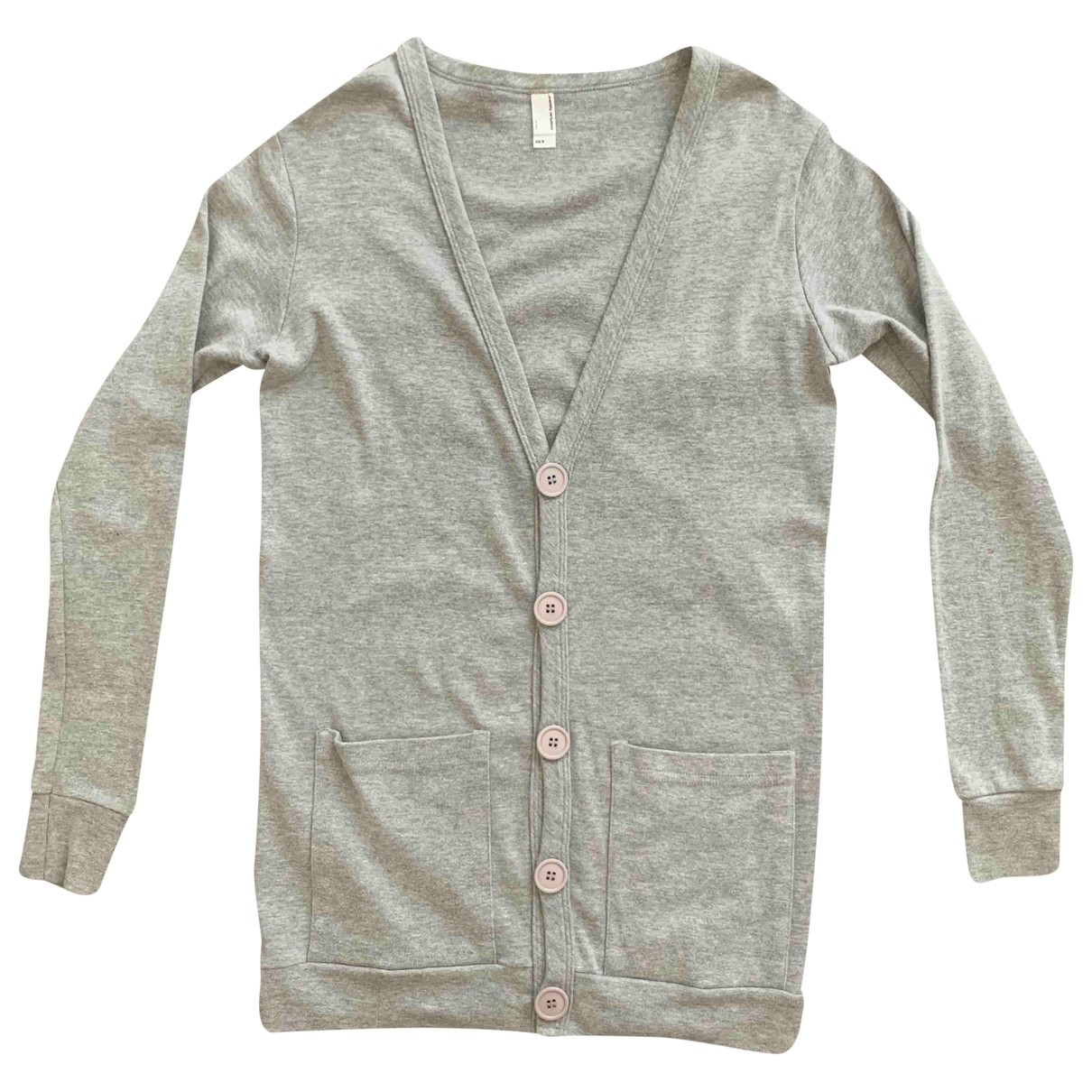American Apparel - Pull   pour femme en coton - gris