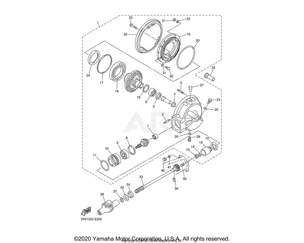 Yamaha OEM 1J7-46117-Y0-25 SHIM, RING GEAR (0.25T)   UR