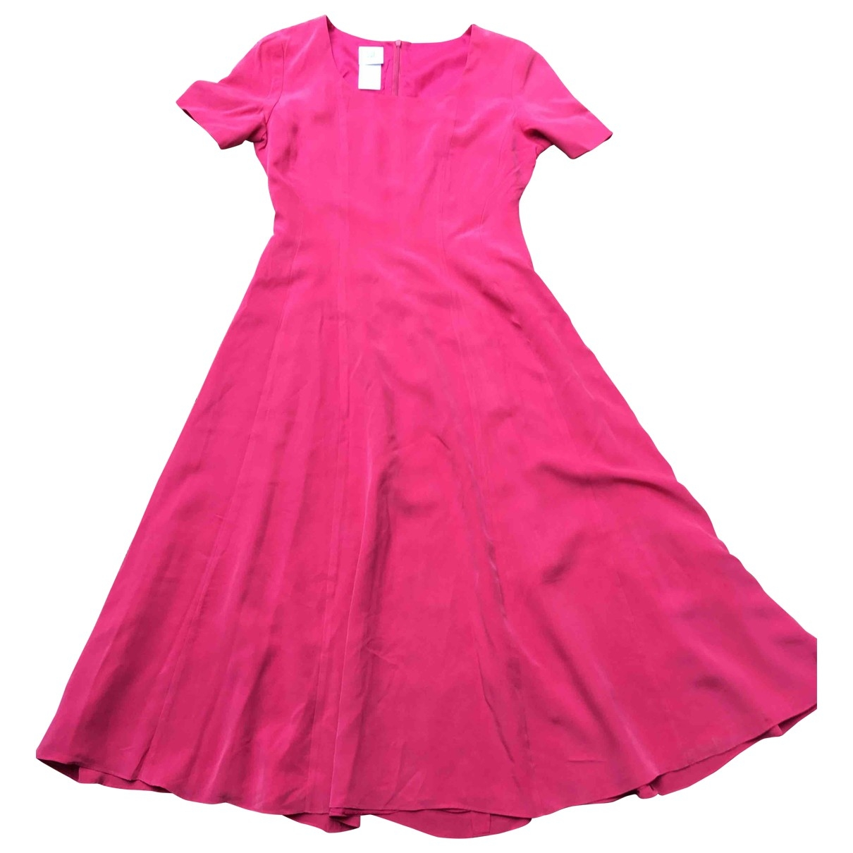Non Signé / Unsigned \N Pink Silk dress for Women 40 FR