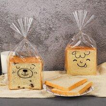 50pcs Random Cartoon Bread Packaging Bag