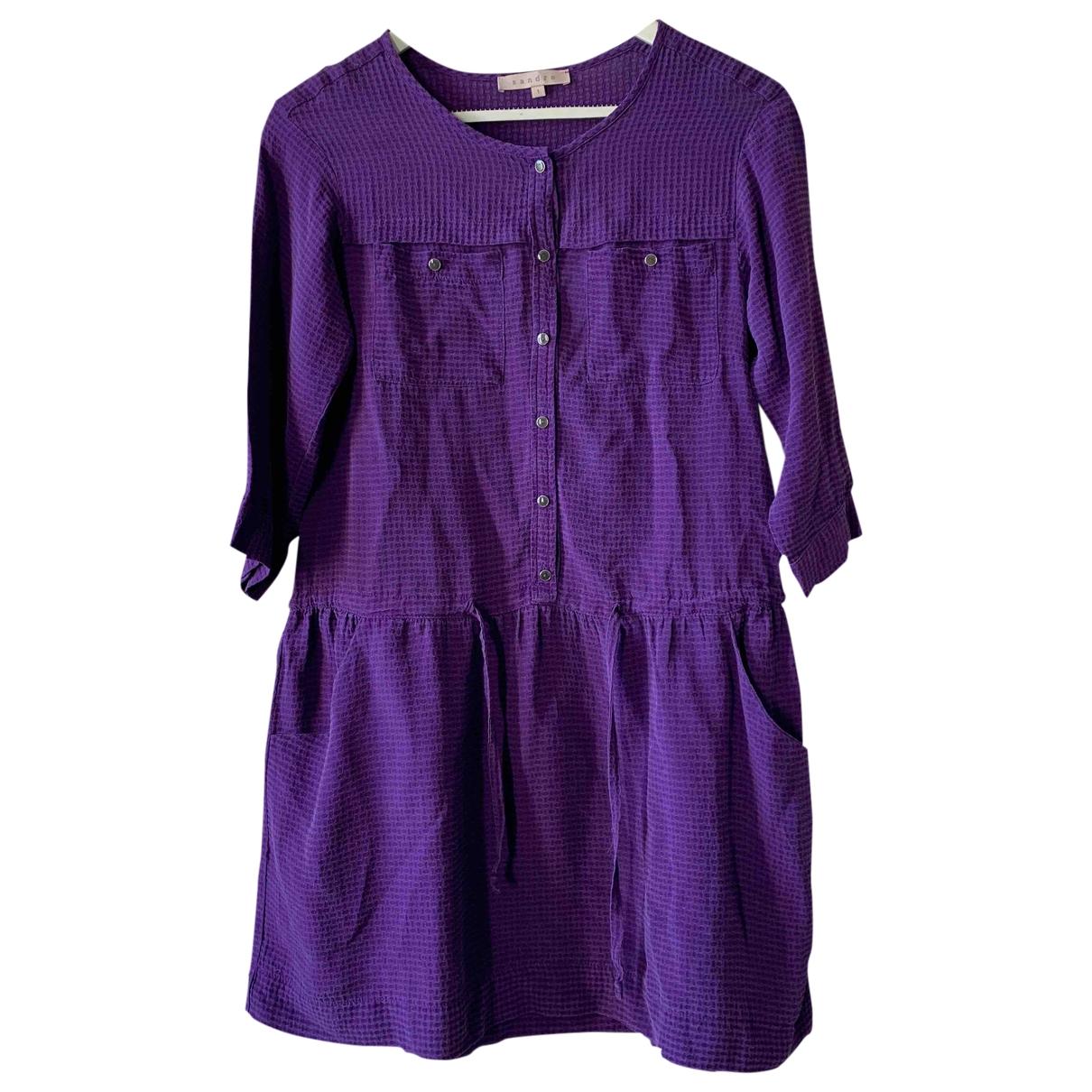 Sandro \N Purple Silk dress for Women 36 FR