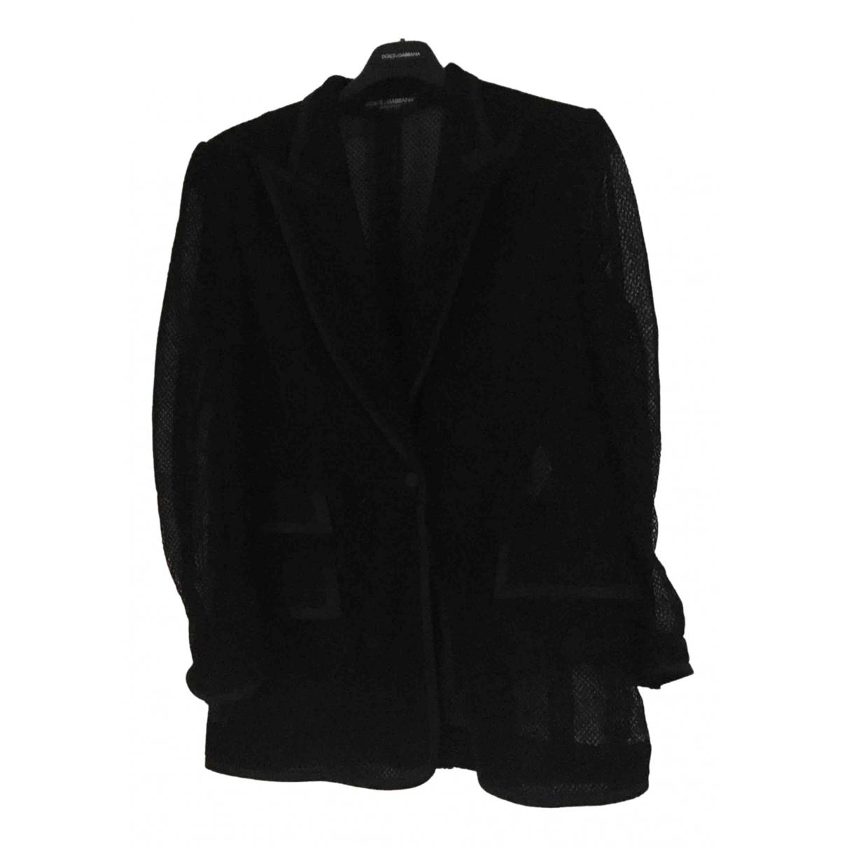 Dolce & Gabbana \N Black Cotton jacket for Women 48 IT