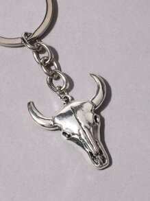 Animal Head Charm Keychain