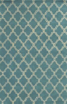 JLPJP874700800912 Julian Pointe JP8747-9' x 12' Hand-Tufted 100% Premium Blended Wool Rug in Teal  Rectangle