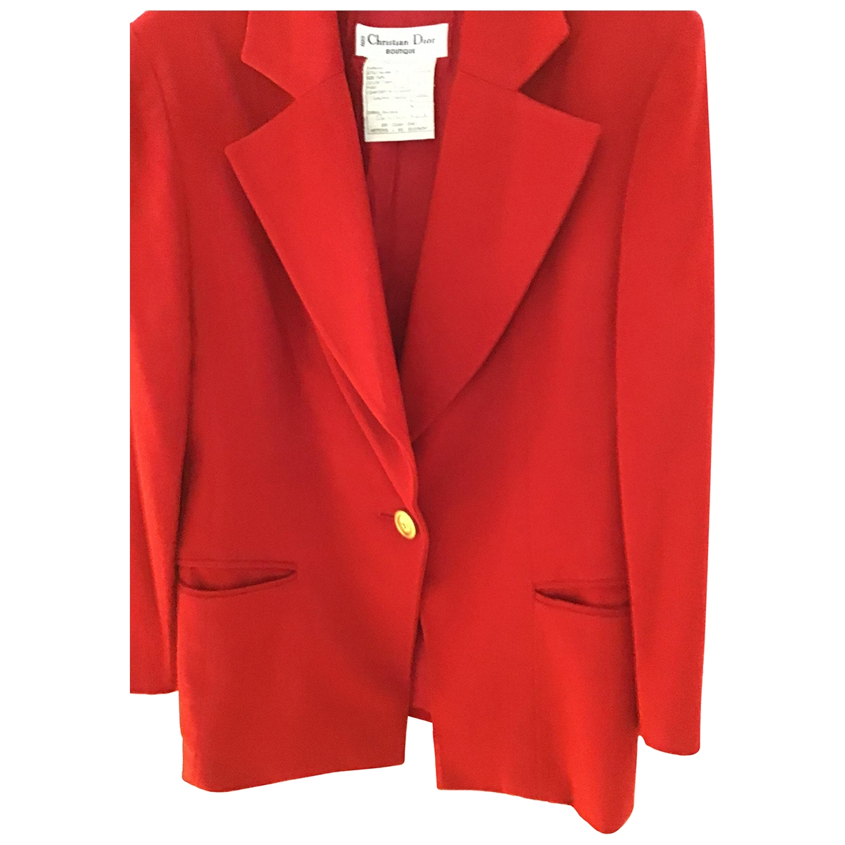 Dior \N Red Wool jacket for Women 44 FR