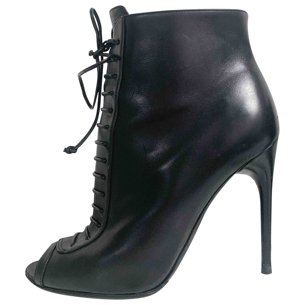 Tom Ford \N Black Leather Ankle boots for Women 38 EU
