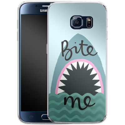 Samsung Galaxy S6 Silikon Handyhuelle - Bite Me von caseable Designs