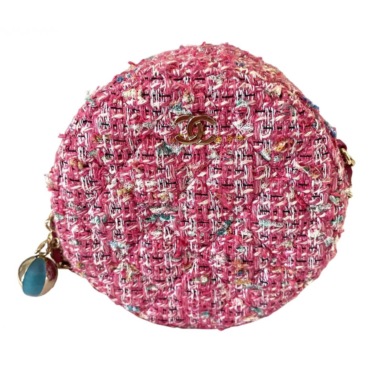 Chanel N Pink Tweed handbag for Women N