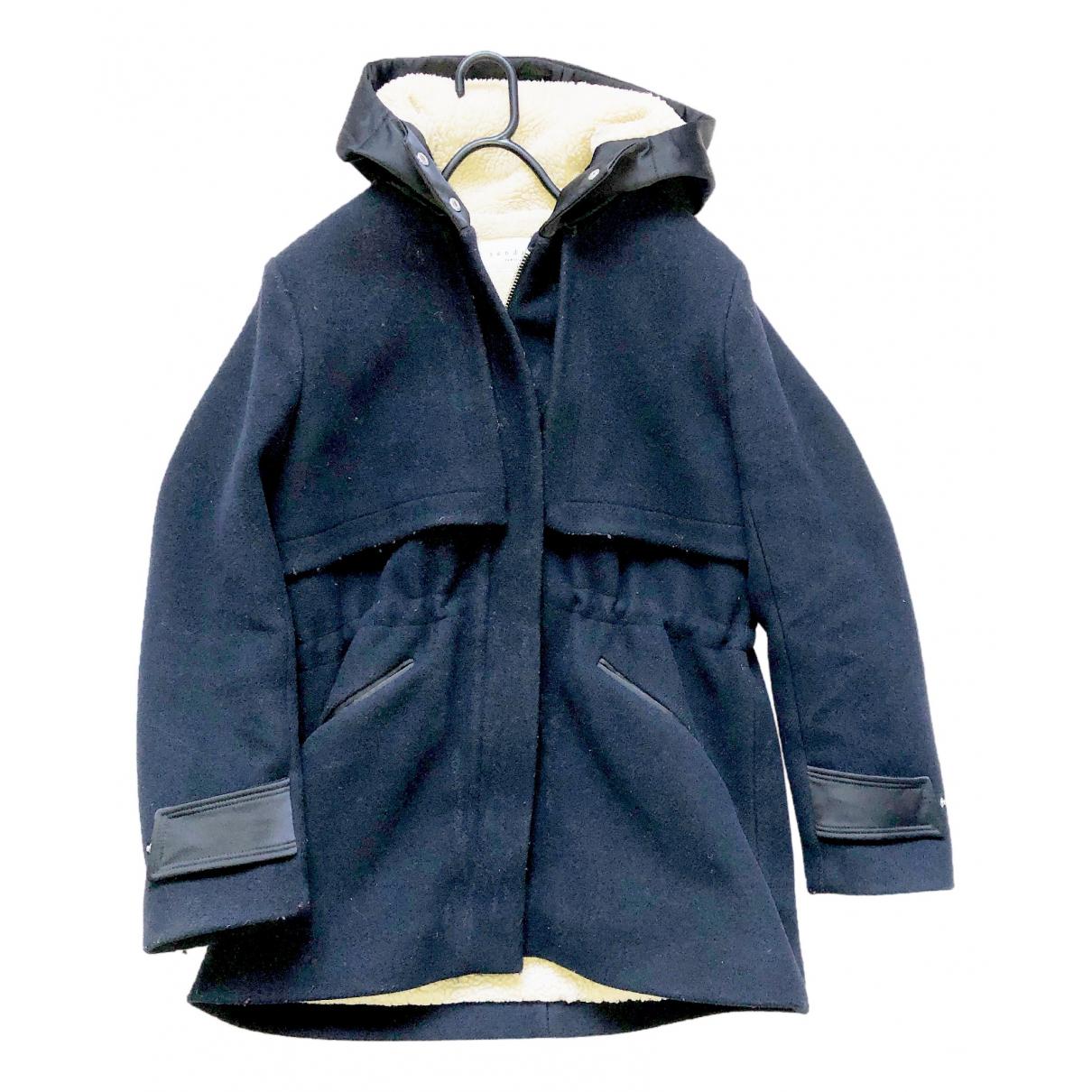 Sandro - Manteau   pour femme - bleu