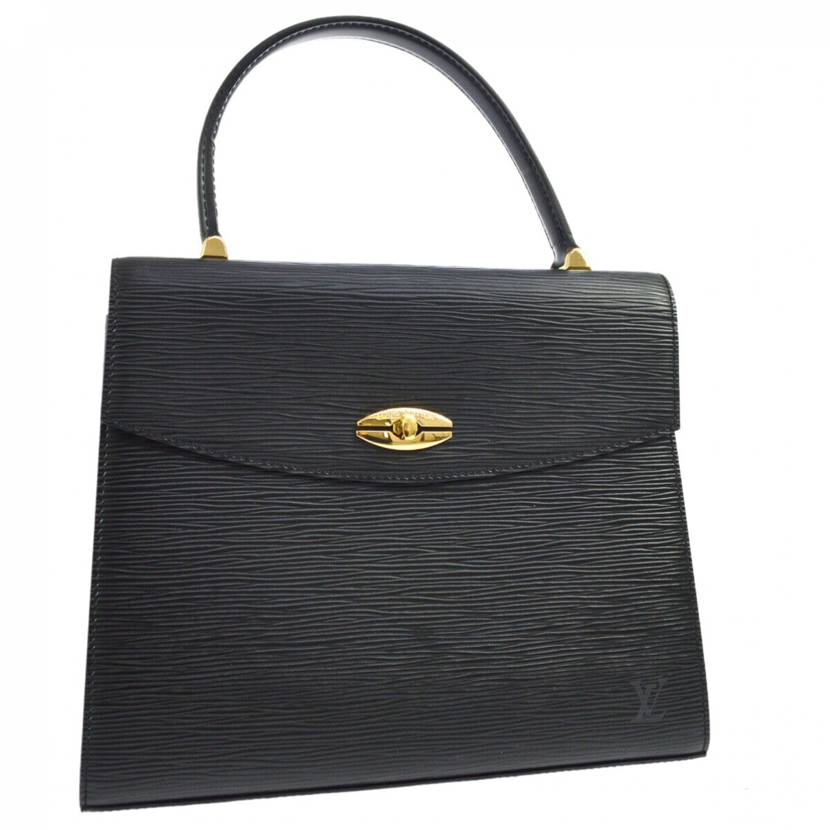 Louis Vuitton Malesherbes Black Leather handbag for Women \N