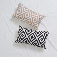 Funda de almohada lumbar con patron geometrico sin relleno 1 pieza