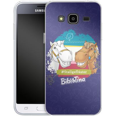 Samsung Galaxy J3 (2016) Silikon Handyhuelle - Bibi und Tina Stallgefluester von Bibi & Tina
