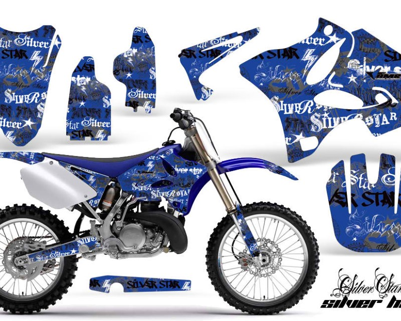 AMR Racing Dirt Bike Graphics Kit Decal Wrap for Yamaha YZ125 YZ250 2002-2014áSSSH BLACK BLUE