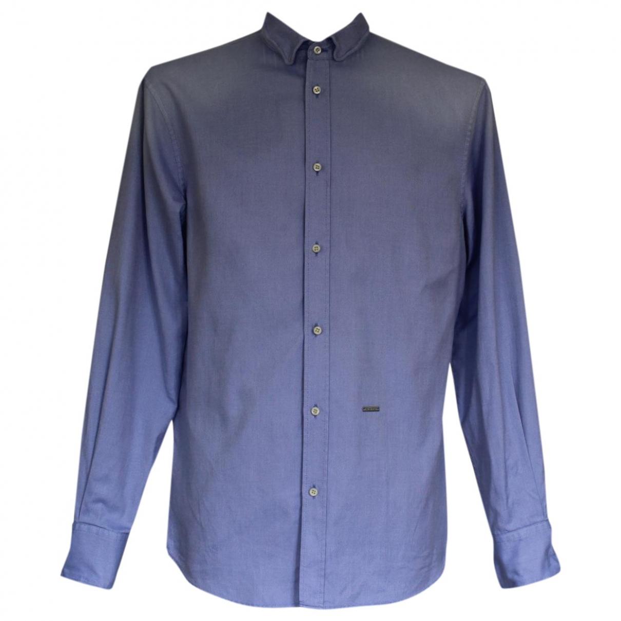 Dsquared2 \N Hemden in  Blau Baumwolle