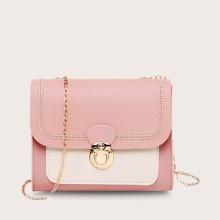 Girls Stitch Detail Flap Crossbody Bag