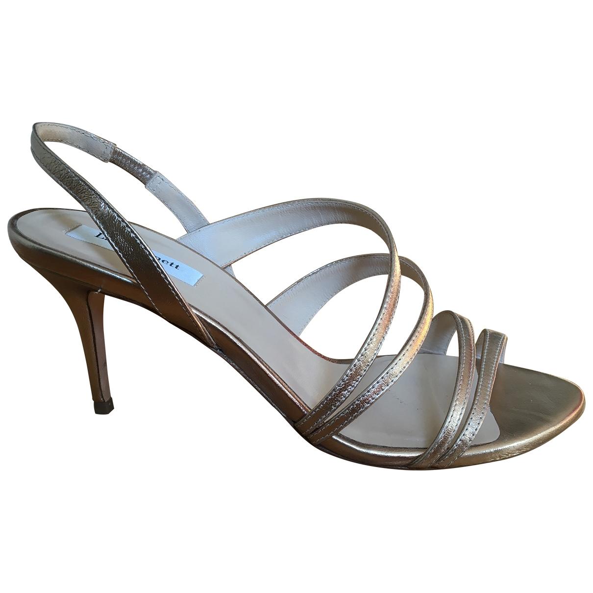 Lk Bennett \N Gold Leather Heels for Women 40 EU