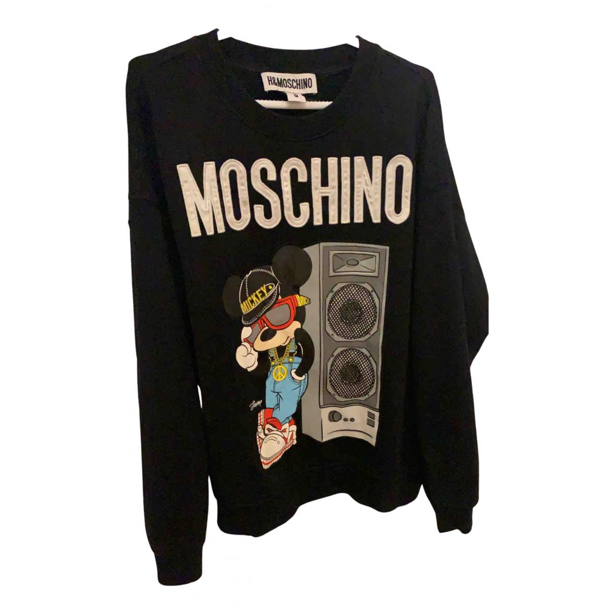 Moschino For H&m \N Pullover.Westen.Sweatshirts  in  Schwarz Baumwolle