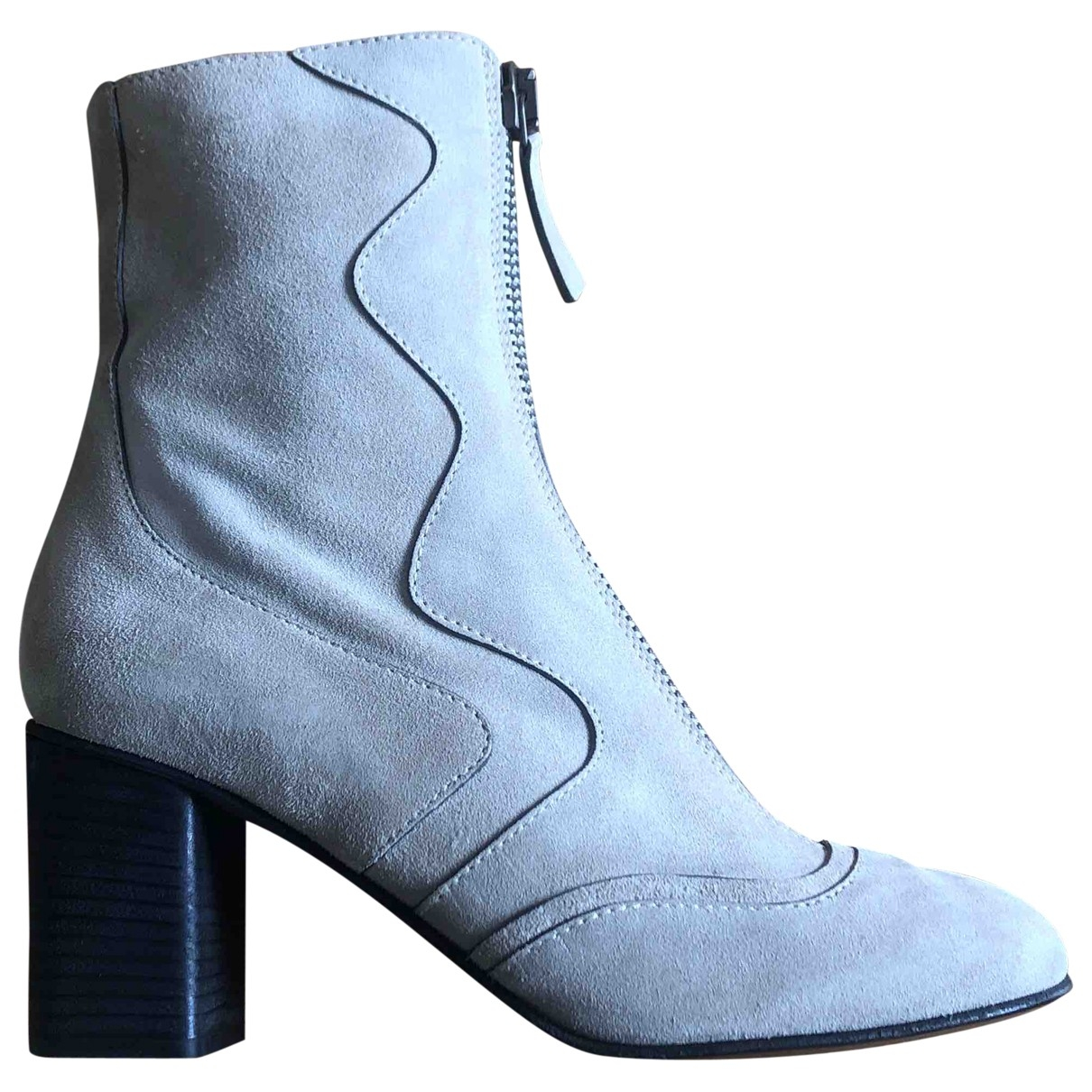 Chloé \N Beige Suede Ankle boots for Women 37 EU