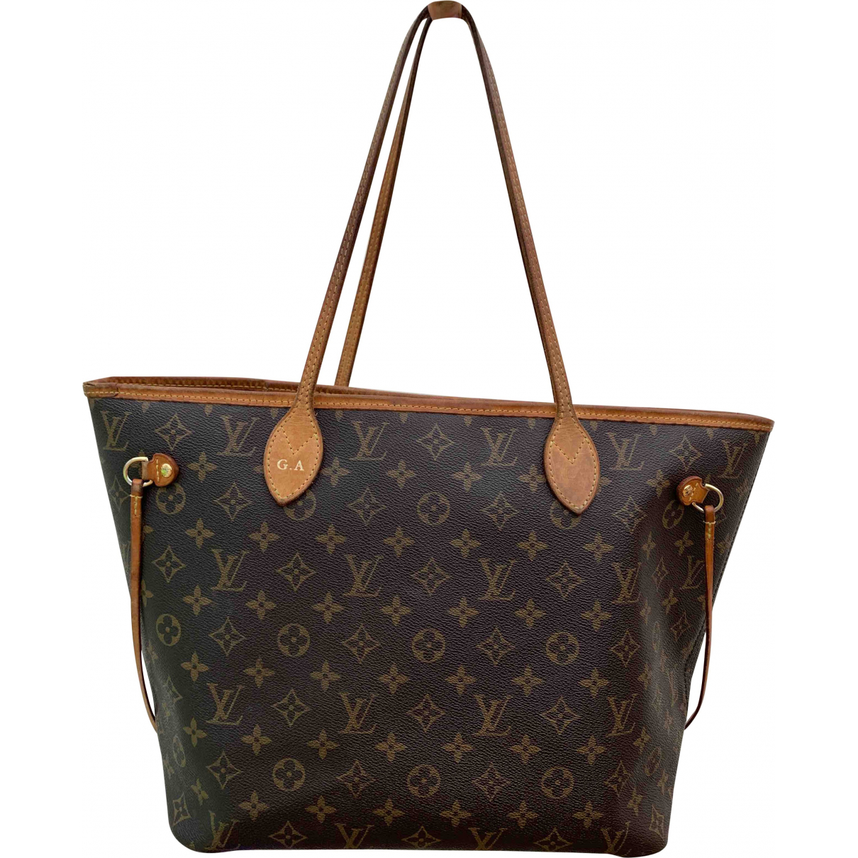Louis Vuitton Neverfull Brown Cloth handbag for Women \N