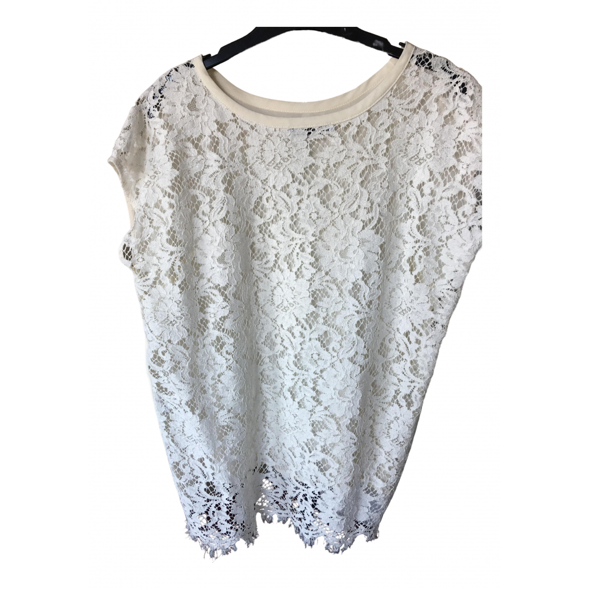 Flavio Castellani \N White Lace  top for Women 44 IT