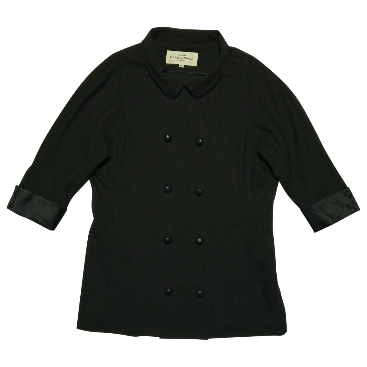 Balenciaga - Top   pour femme en laine - noir