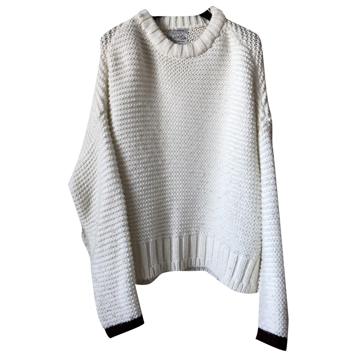 Non Signé / Unsigned Oversize White Cotton Knitwear for Women M International
