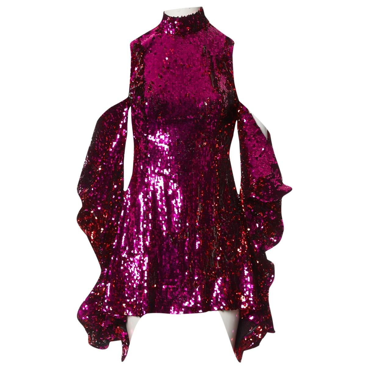 Halpern \N Kleid in  Rosa Mit Pailletten