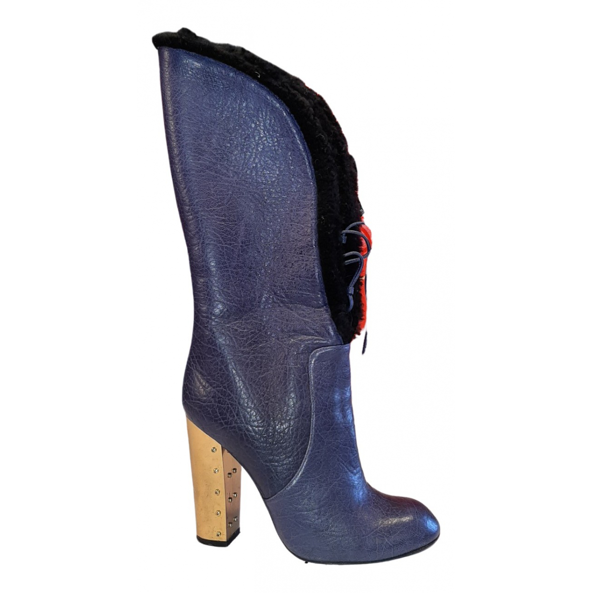 Sonia Rykiel \N Stiefel in  Blau Leder