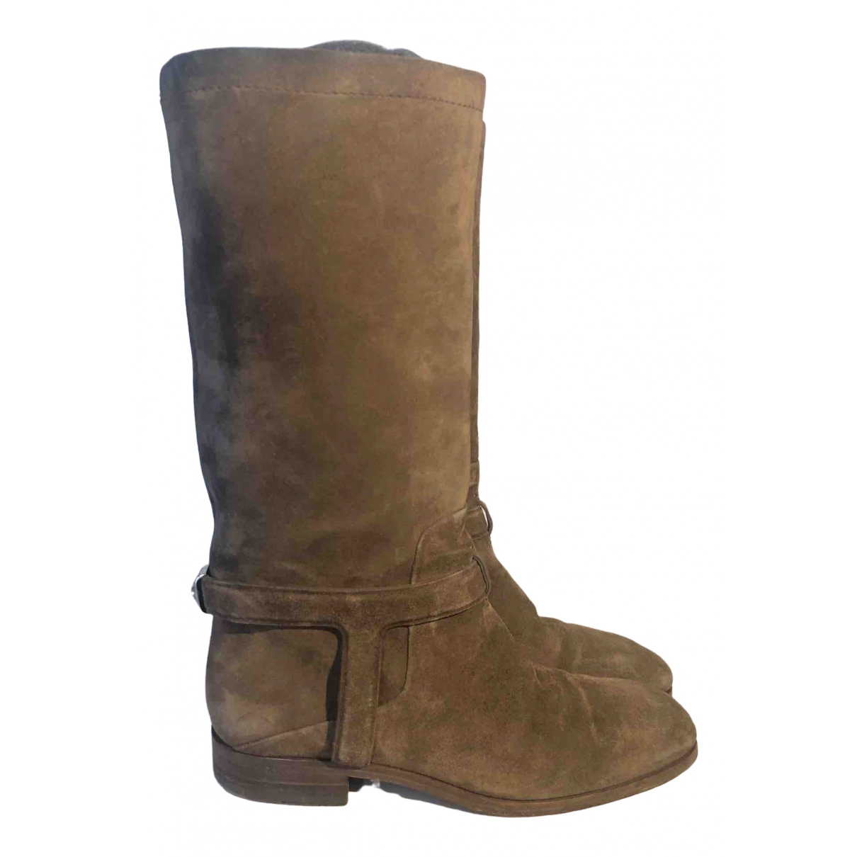 Dior \N Brown Suede Boots for Women 37 EU