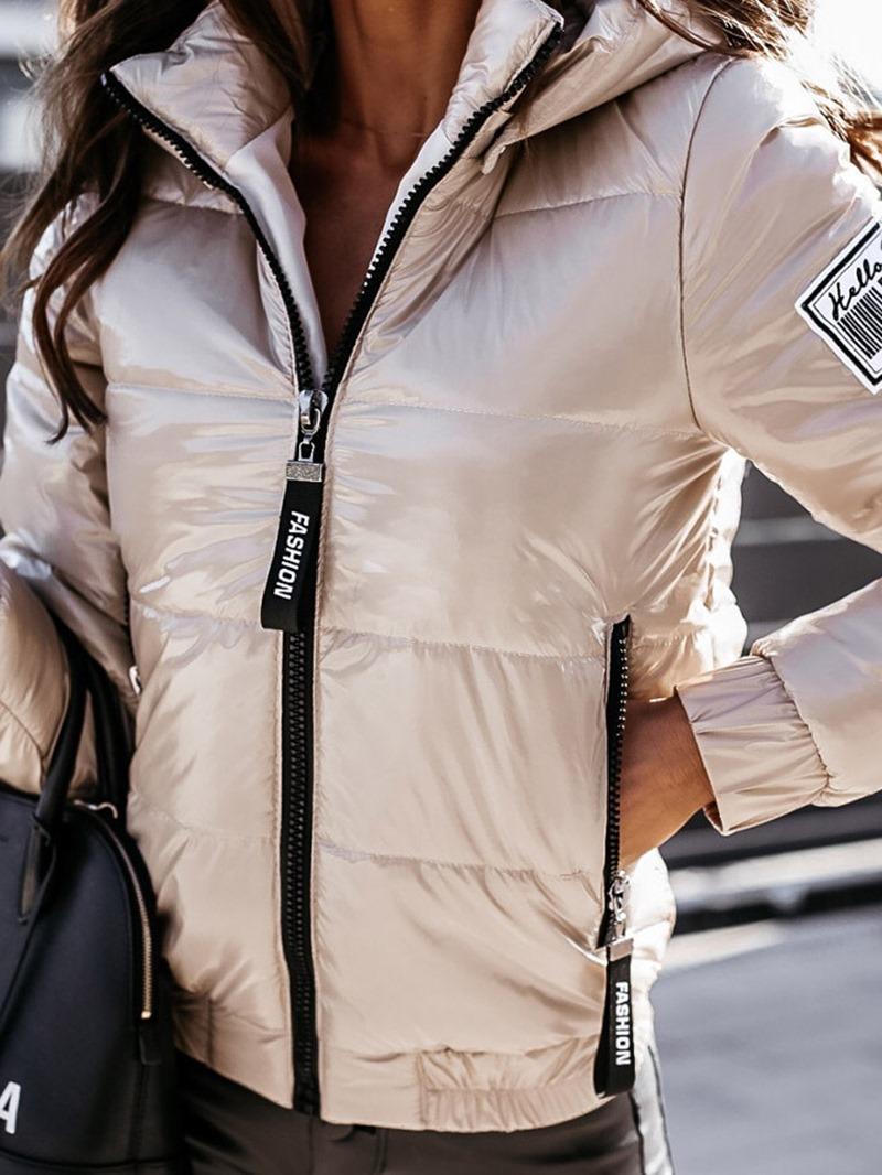 Ericdress Zipper Thick Slim Standard Cotton Padded Jacket
