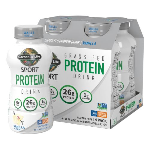 SPORT Grass Fed Dairy Protein RTD Chocolate  Case of 16  by Garden of Life